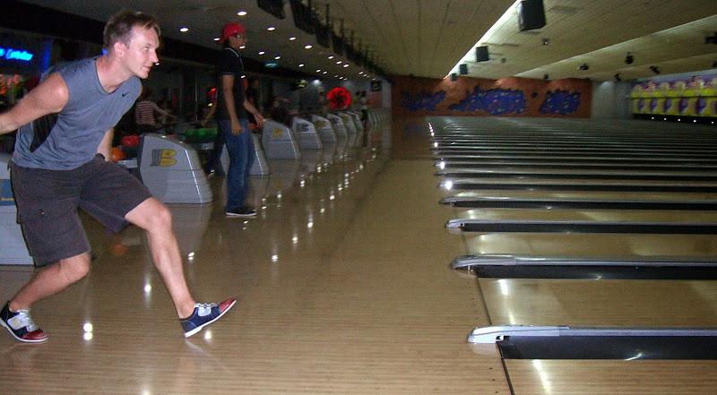 Chris beim Bowling