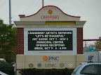 Cranberry Twp Billboard announcing the Let's Be Thankful show.