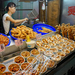 fried street food at the Shilin night market in Taipei in Taipei, T'ai-pei county, Taiwan
