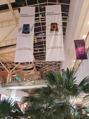 Banners for the Galaxy Note7, taken in Jurong Point on 16 October.