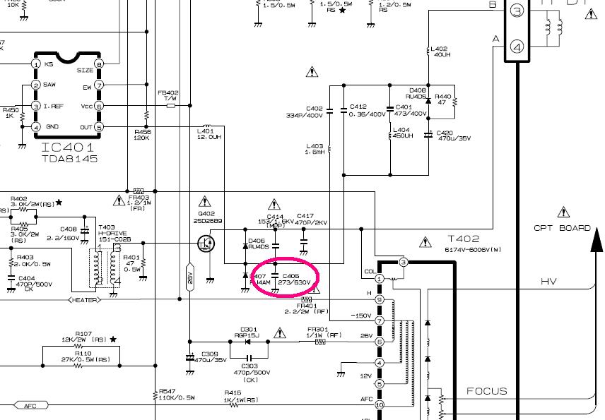 21FU1RK quema transistor de salida horizontal ...