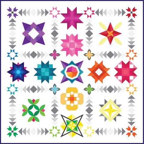 stellar stars by Purple Diasies quilting
