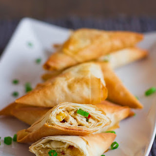 Chicken Phyllo Triangles.