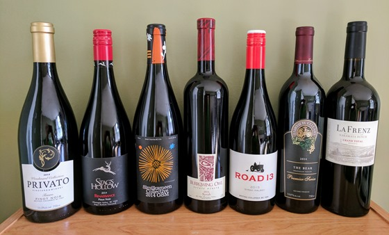 July 2017 BC wine collectibles