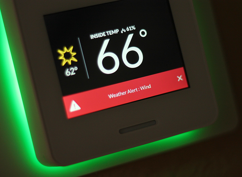 Glowing thermostat