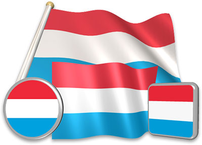 Luxembourgish flag animated gif collection
