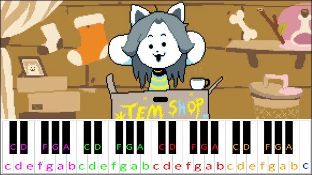 Tem Shop (Undertale) ~ Piano Letter Notes