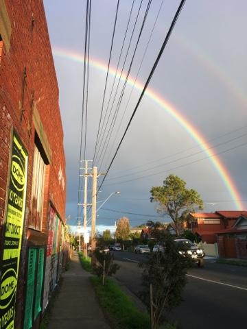 Double rainbow over Brunswick East