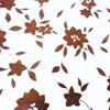 Brown & white floral cotton poplin