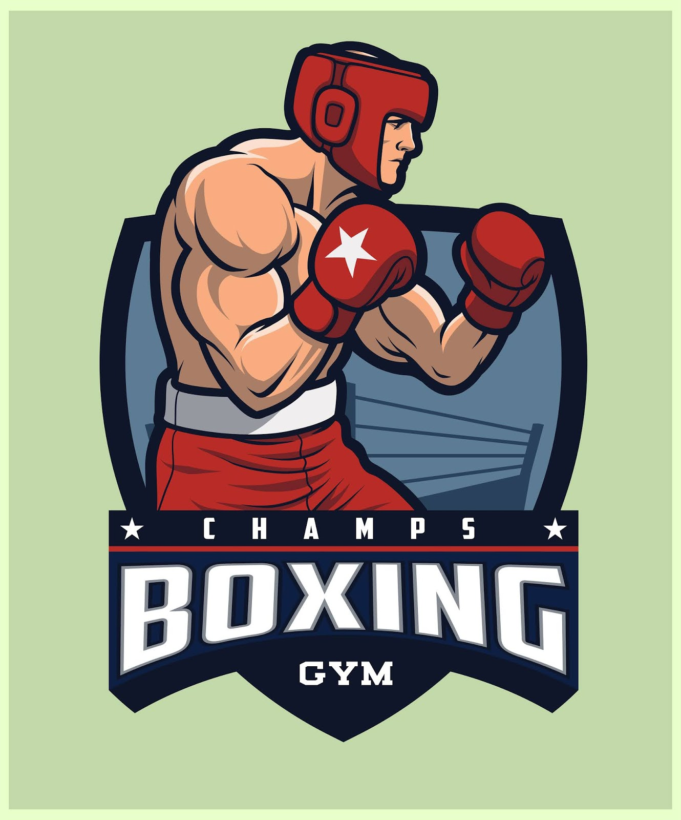 Boxing Logo Boxer Wearing Headgear Training.jpg Free Download Vector CDR, AI, EPS and PNG Formats