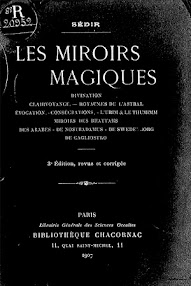 Cover of Paul Sedir's Book Les Miroirs Magiques (1907,in French)