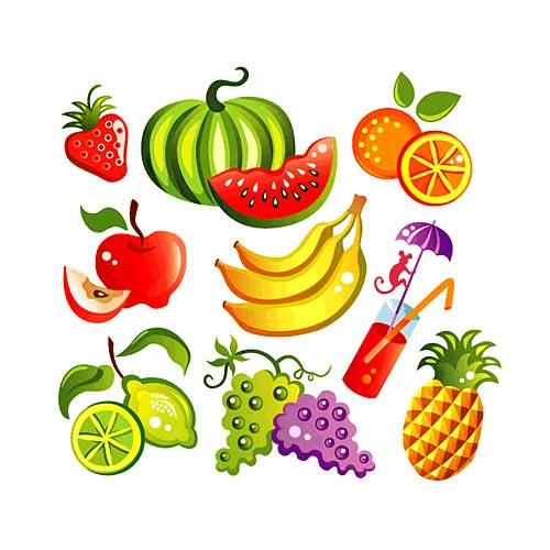 Moldes y Figuras de Sucha Foami: frutas