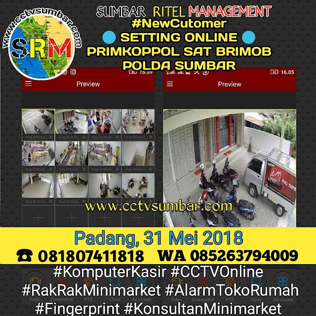 Setting Online CCTV Pada PRIMKOPPOL SAT BRIMOBDA SUMBAR