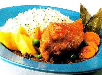 Receta de estofado de pollo en Recetas de Pollo