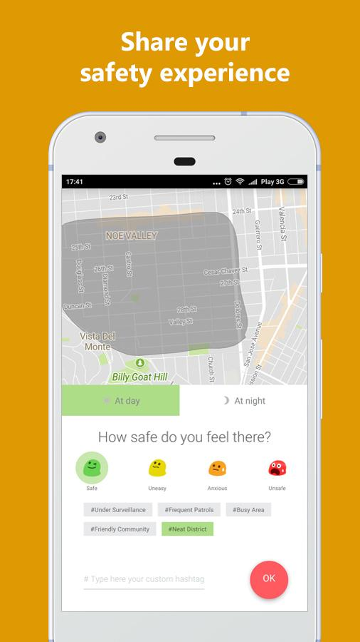 Jane - Personal Safety Map- screenshot