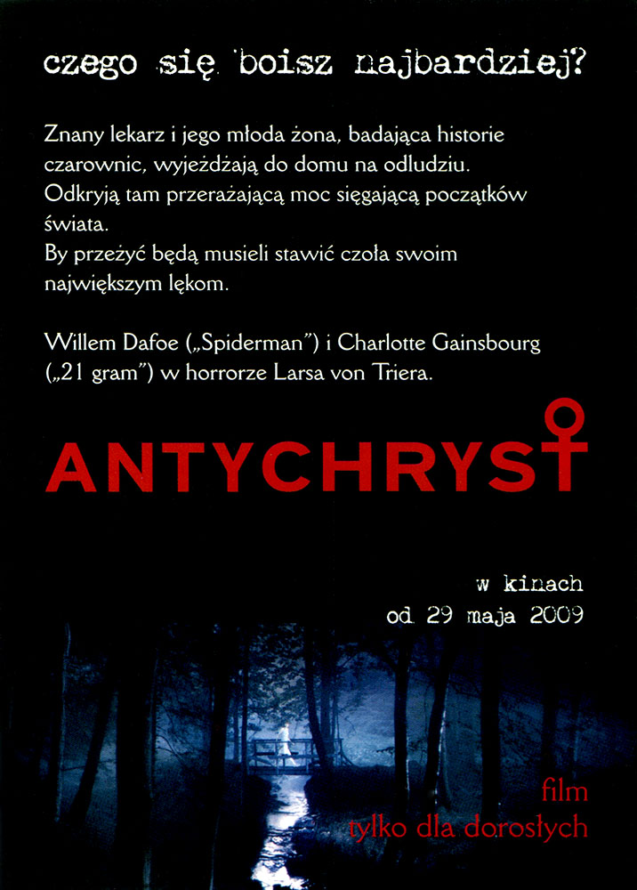 Ulotka filmu 'Antychryst (tył)'