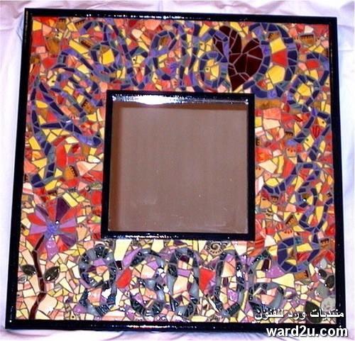 موزايك فى اطار مرايا بكسر الزجاج Mosaic Glass