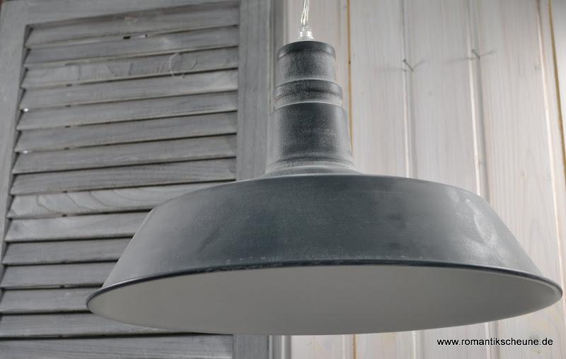 H ngelampe industrie lampe deckenleuchte vintage t rkis for Lampen zur scheune
