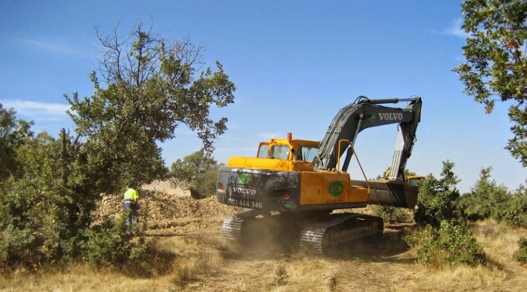 Obras conexión Sotosalbos a la presa del Ceguilla