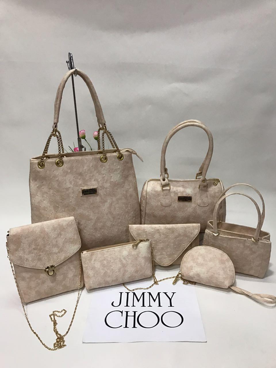 Jimmy Choo Bags 7 Set Combo 6 Colours