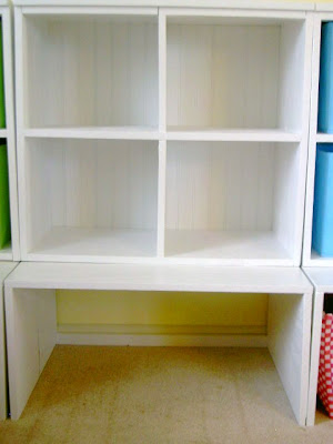 painted storage cubbies