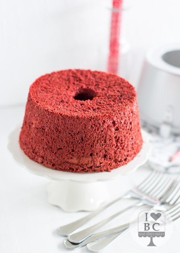 Red Velvet Angel Food Cake