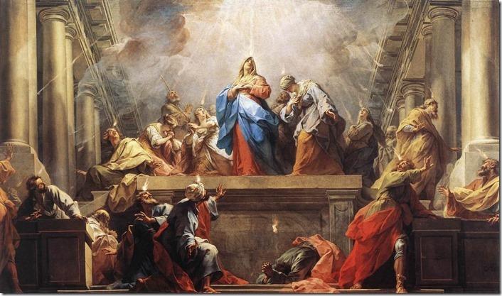 Pfingsten Jean_II_Restout_-_Pentecost_-_WGA19318