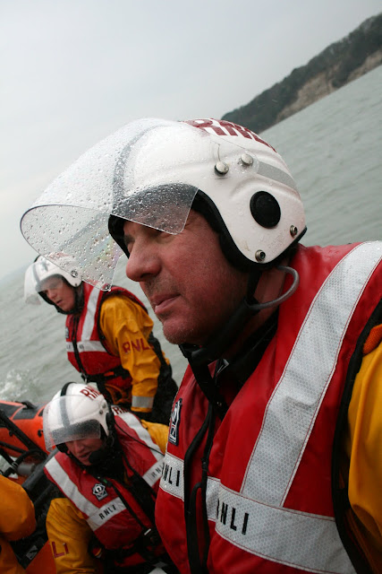 Richard Skerman and other crew on the inshore lifeboat