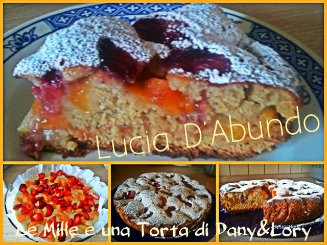 torta light allo yogurt con melone cantalupo e fragole