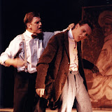 Christopher Foster and Kevin Miller in LOOK HOMEWARD, ANGEL (R) - March 1994.  Property of The Schenectady Civic Players Theater Archive.