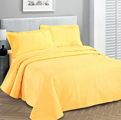 yellow bedspread