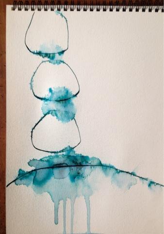 Rachel Loewens: more ink experiments #doitfortheprocess