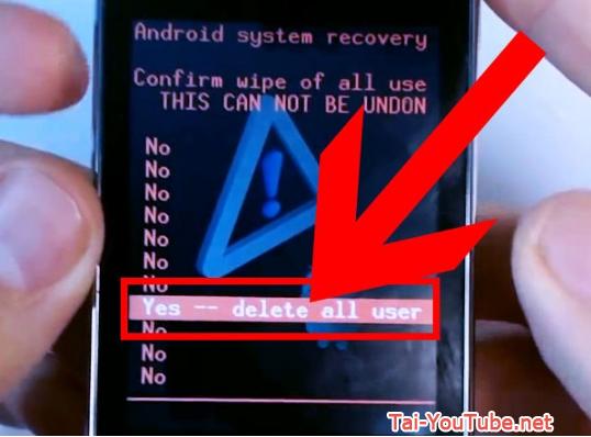 Hướng dẫn khôi phục cài đặt gốc cho hệ điều hành Android + Hình 6