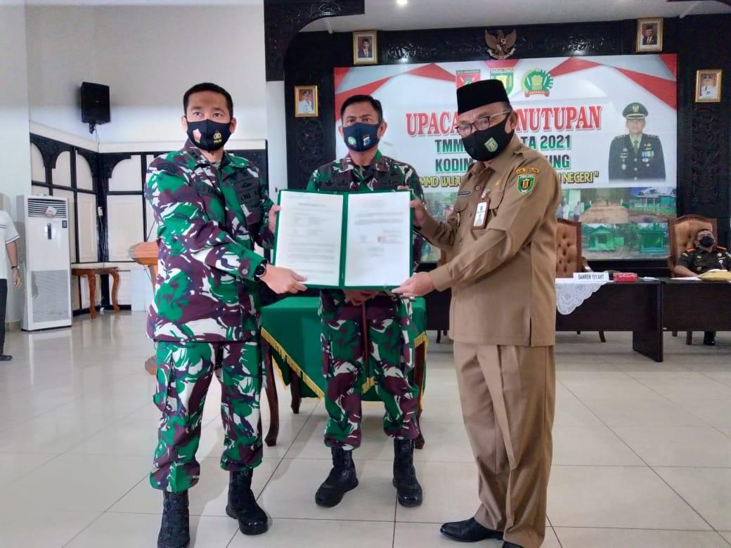 Penyerahan Hasil TMMD 110 Kodim 1008/Tanjung, Wujud Sinergi Membangun Negeri