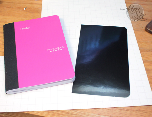 Making your own covers on notebooks