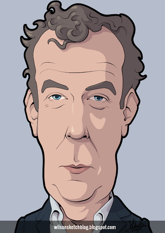 Cartoon caricature of Jeremy Clarkson.