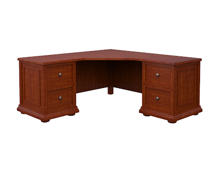 Edinburgh L-Shaped Desk in Dakota Maple