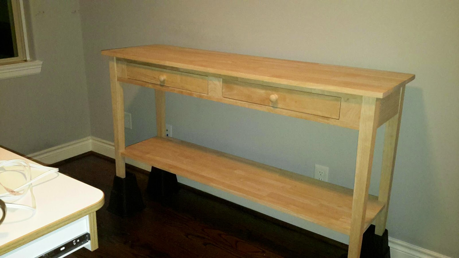 How to make a sofa table out of floor boards - I Ve Looked At The Big Board That Is Marketed To Quilters And Sits On Top Of Your Regular Iron Table It S About 150 That Option Seemed Bulky And Somehow