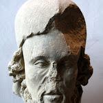 Centre de la France - Tête de prophète (calcaire, début du 14e siècle)