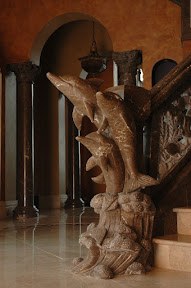 Architecture, Dolphins, Gallery, Interior, Marble, Newel Posts, Staircases, Stairs