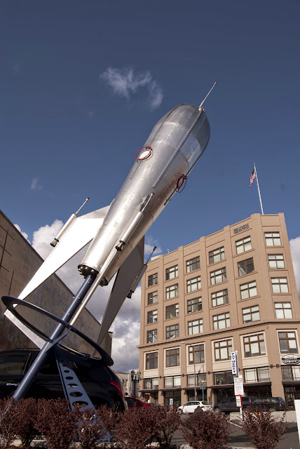 The famous Rocket of Rocket Donuts in the Bellingham Arts District / Credit: Bellingham Whatcom County Tourism
