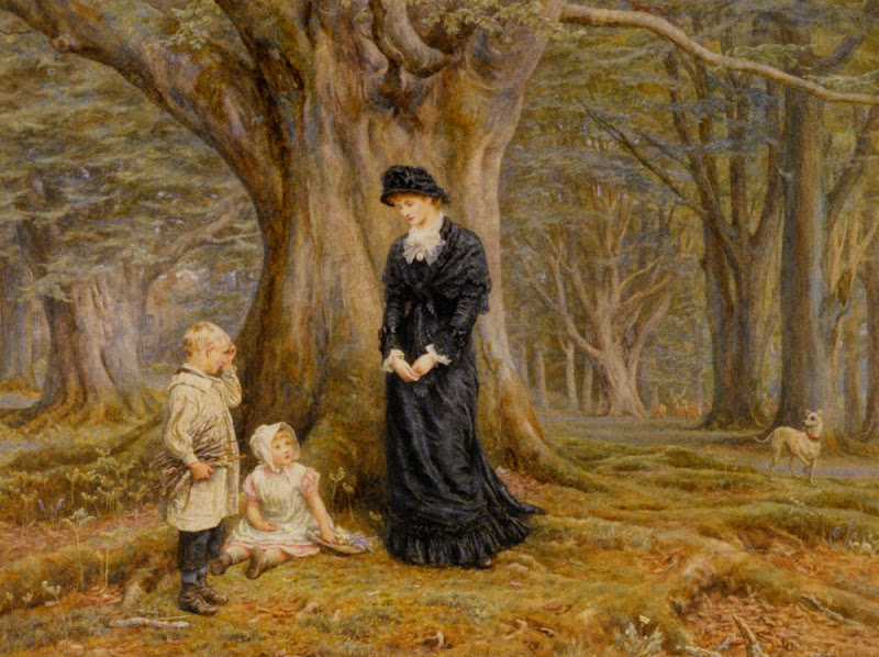 Helen Allingham - The Lady of the Manor