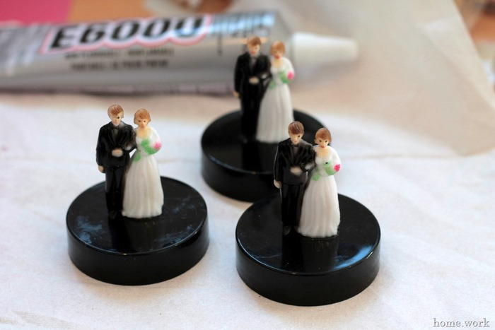 Painted Bride & Groom Wedding Favors - homework - carolynshomework (4)