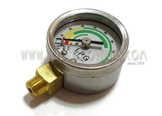 เกจ์วัดแรงดันแก๊ส ( PRESSURE GAUGE )  0-10 kg/cm2