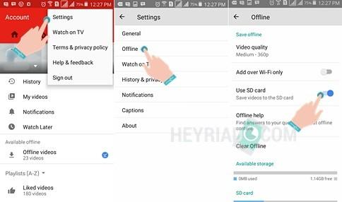 Tutorial Lengkap Cara Memindahkan Video Offline YouTube ke SD Card Cara Memindahkan Video Offline YouTube ke SD Card