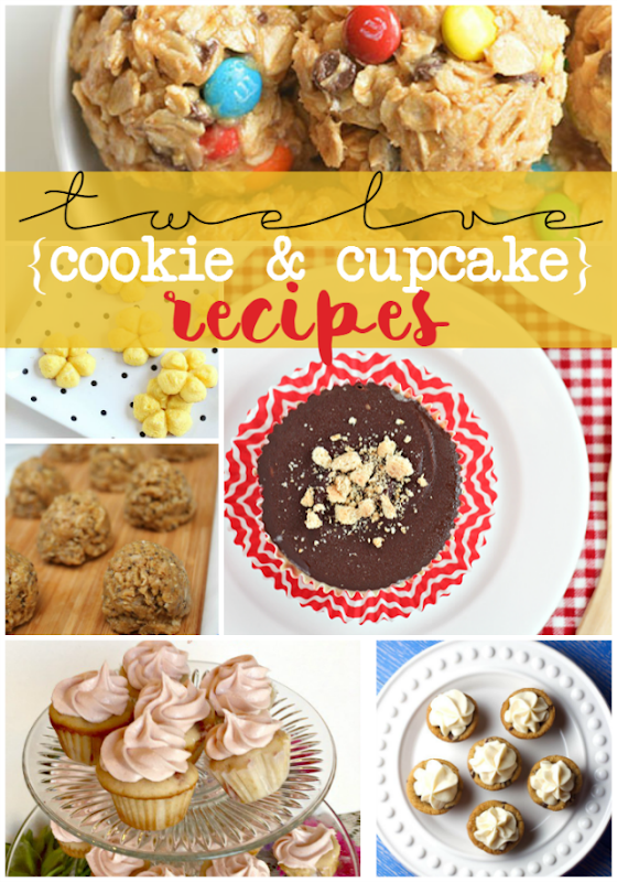12 Cookie & Cupcake Recipes at GingerSnapCrafts.com #recipe #desserts
