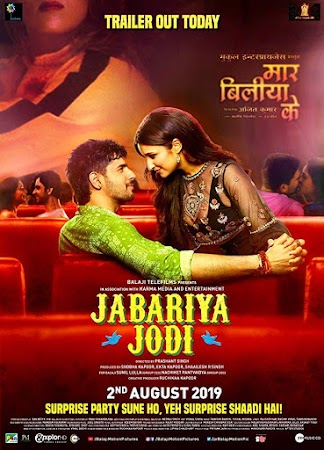 Poster Of Hindi Movie Jabariya Jodi 2019 Full HD Movie Free Download 720P Watch Online
