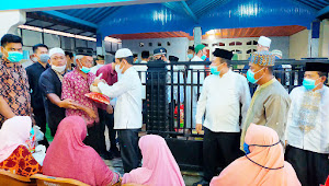 Berbagi Kebaikan di Bulan Suci Ramadhan, Wabup Muratara Tebar Sembako di Rawas Ilir
