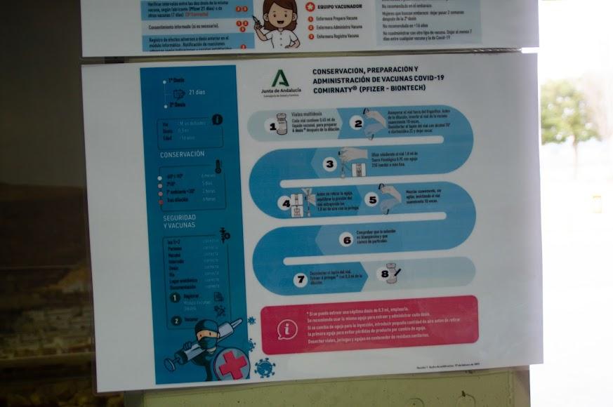 Protocolo para la administración de las vacunas de Pfizer-BioNTech.