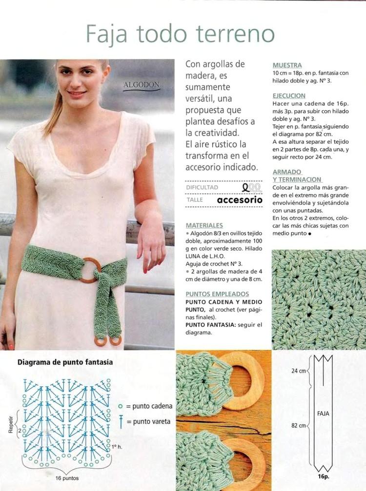 Mis creaciones 25: Cinturones Tejidos a Crochet